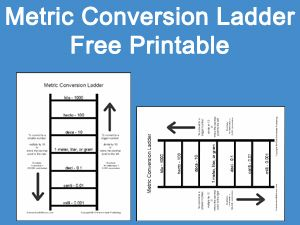 metric conversion ladder free printable homeschool freemath mathprintable print math. Black Bedroom Furniture Sets. Home Design Ideas