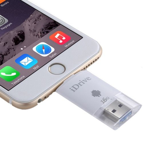 16GB 2 in 1 Micro USB 2.0 & 8 Pin USB iDrive iReader Flash Memory Stick for iPhone 6 & 6s, iPhone 6 Plus & 6s Plus, Samsung Galaxy S6 / S5