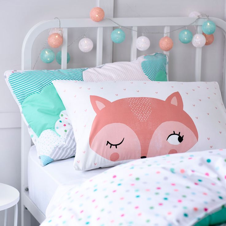 Adairs Kids AK Text Pillowcases - Bedroom Pillowcases - Adairs Kids online