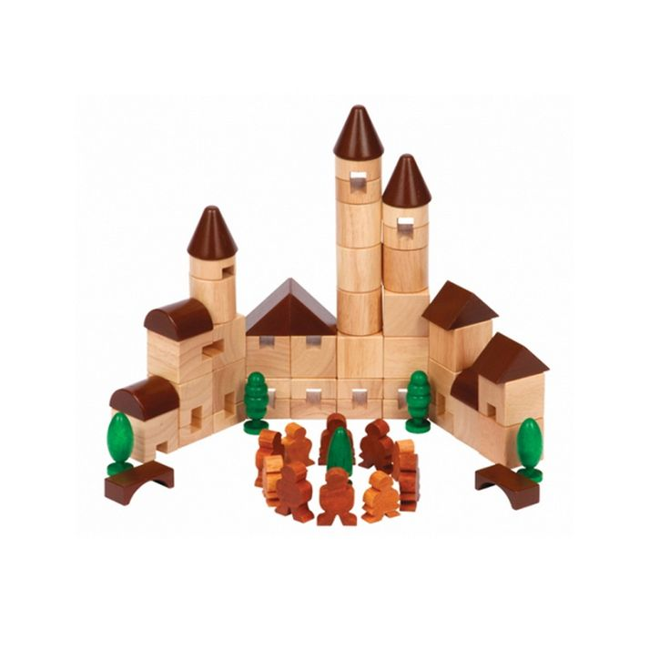 With the 65-piece City Blocks set, young builders will love to explore the endless possibilities in urban construction and environmental design. Includes little trees and people to round out the landscape and to enhance creative play.