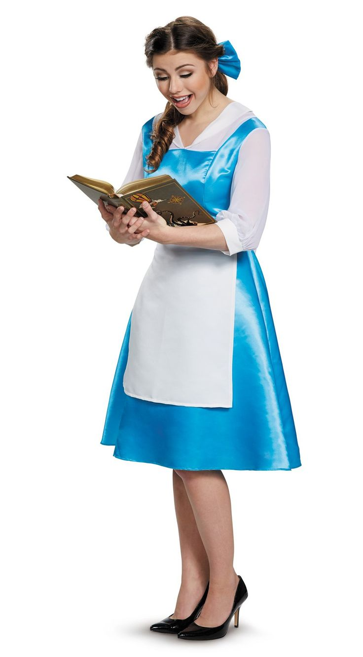 Beauty and the Beast Belle Blue Dress Adult Costume from Buycostumes.com