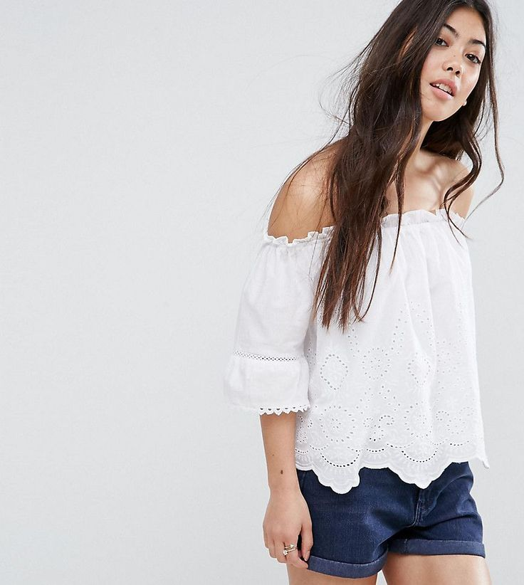 Get this New Look Petite's top off shoulder now! Click for more details. Worldwide shipping. New Look Petite Cutwork Bardot Top - White: Petite top by New Look Petite, Woven cotton, Bandeau neck, Cut-work design, Scalloped hem, Relaxed fit, Machine wash, 100% Cotton, Our model wears a UK 8/EU 36/US 4. High Street heroes New Look introduce New Look Petite ; a trend-led hit of fast fashion in whittled down sizes perfect for smaller frames. Midi dresses, jeans, shorts and outerwear come with…