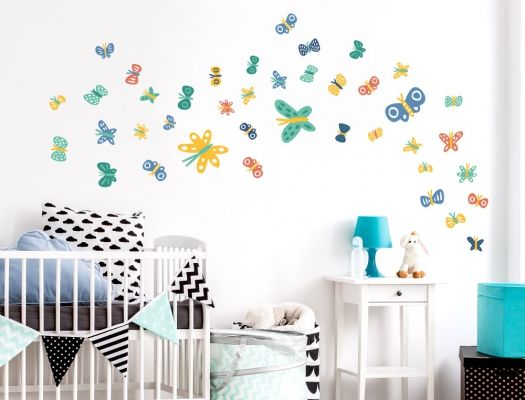 Marvelous Wandsticker Schmetterlinge u blau