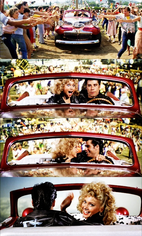 The flying car that has always mystified me -- Grease When I watch this, this is how i expect my graduation to be