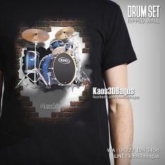 Kaos DRUM - Kaos 3D Drum Set - Kaos ALAT MUSIK - Kaos DRUMMER - Kaos PERKUSI