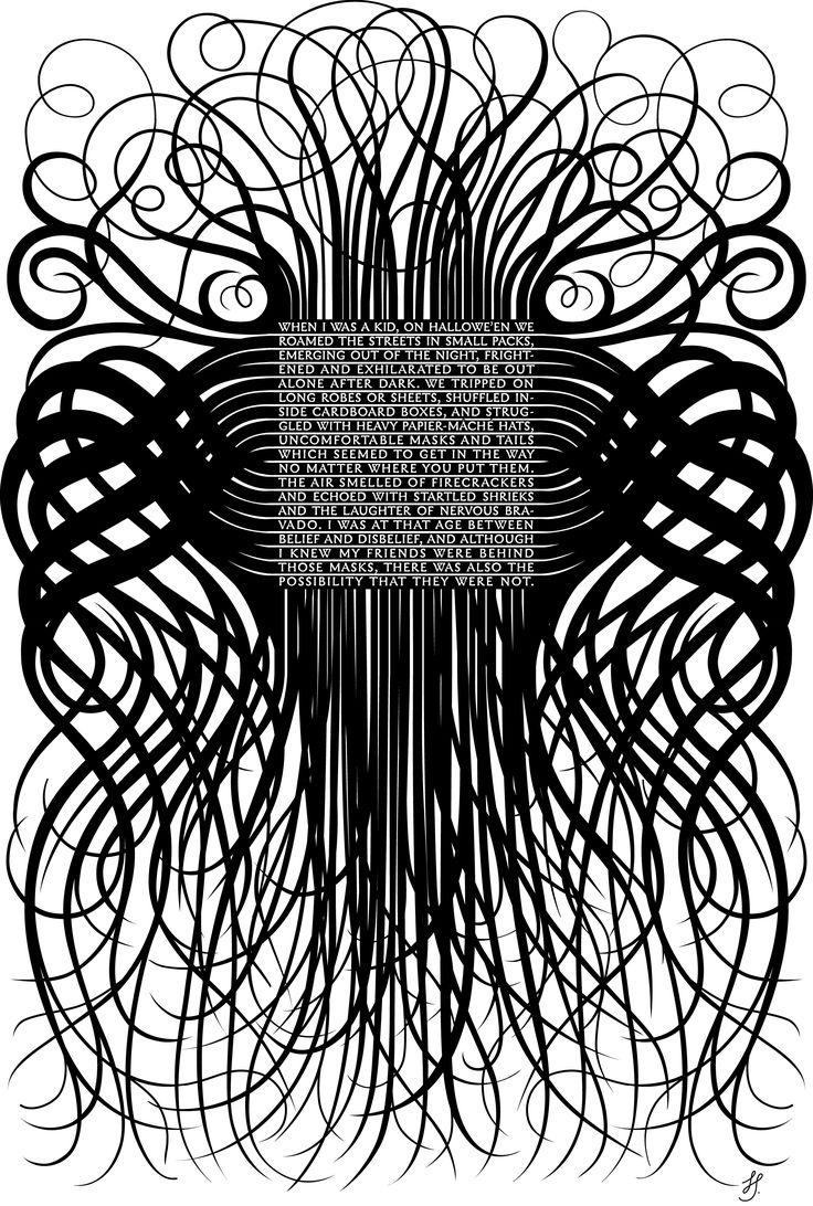 Marian Bantjes, Hallowe'en '05, vector art, 2005   #graphic #design #mudac #typography #wunderkammer