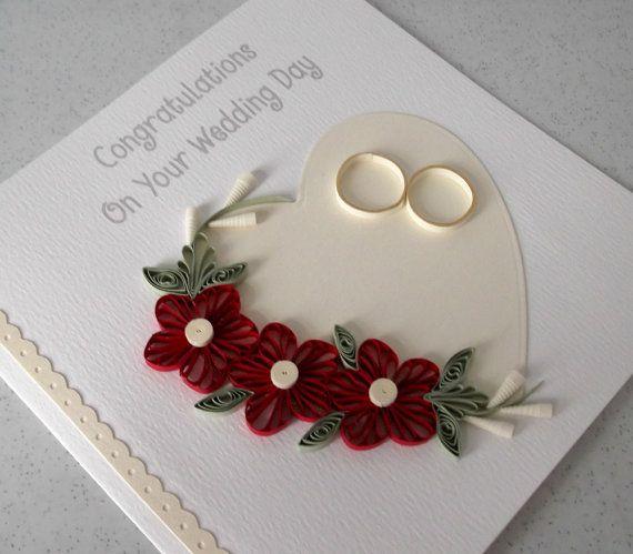 Stachelbesetzter Hochzeit-Glückwunsch-Karte von PaperDaisyCards