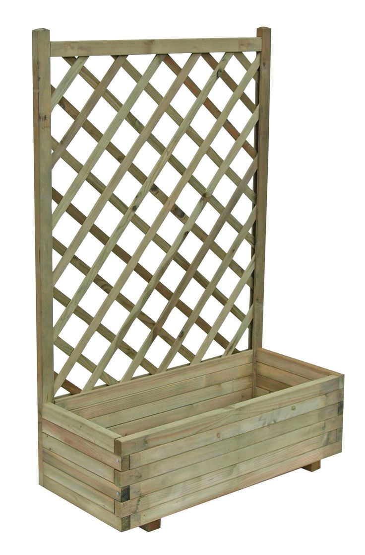 Grow Your Own Wooden Pale Green Planter (H)1.22m | Departments | DIY at B&Q