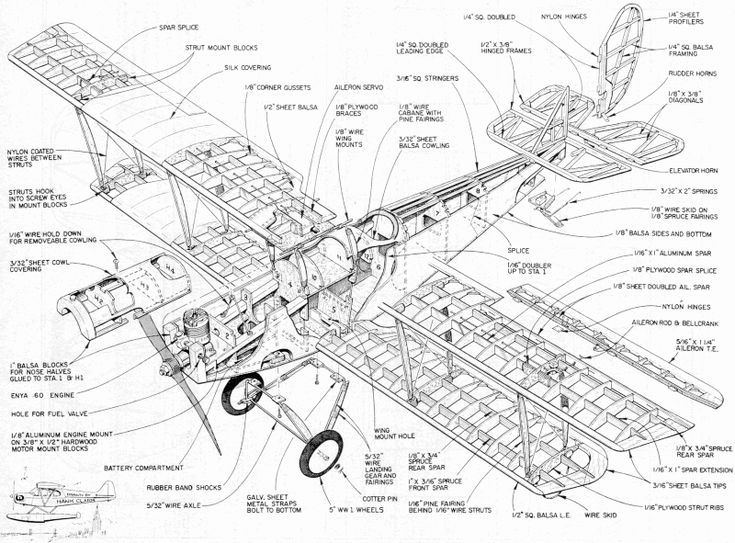 23 best Old Aeroplane Blueprints and technical drawings