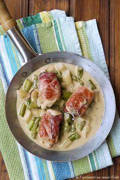Experimente aus meiner Küche: Spargelpfanne mit Hähnchen