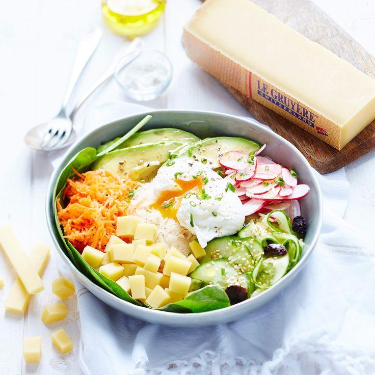 Salade d'avocat, au concombre et au gruyère AOP / Avocado Salad, with cucumber and gruyere AOP