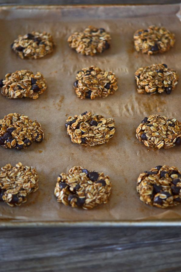 Healthy Gluten Free Flourless Oatmeal Chocolate Chip Cookies