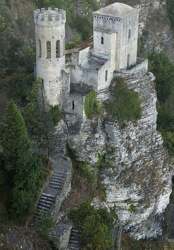 Castello di Venere a Erice, Trapani, Sicilia, Italy