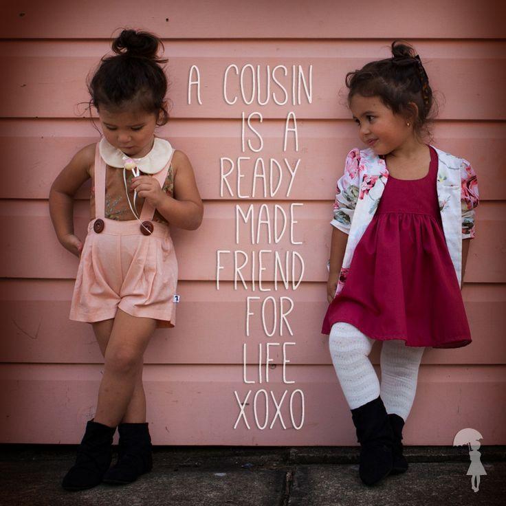<3 Little Girls Fashion. Suspenders, Cousin Love.