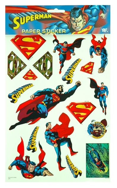 Superman Stickers and more Superman toys at Funstra