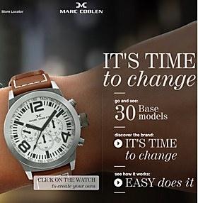 It's time to change... - Marc Coblen horloges