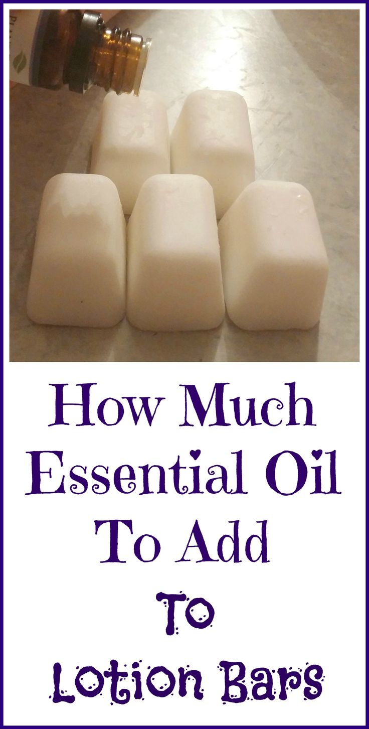How many drops of essential oil do you add to lotion bars?