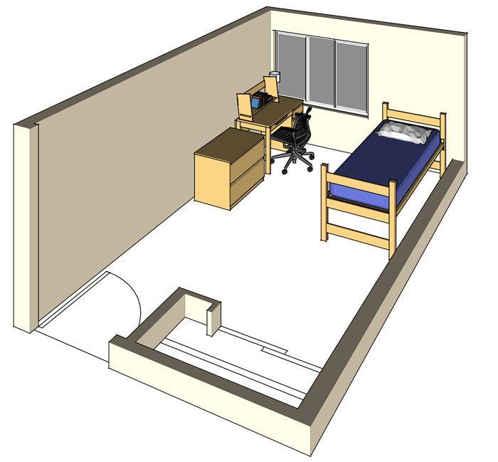 Single Room Occupancy Floor Plans | UC Davis Student Housing: Regan Hall  Room Model: Single Occupancy | DORM | Pinterest | Student House, Hall And  Dorm Part 58