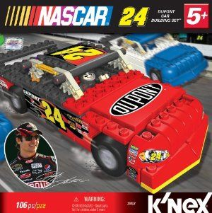 NASCAR 24 Dupont Car Building Set by NASCAR. $27.68. Authentic sponsor logos replicate the 24 DuPont Car. For ages 5+. Built car measures 7? in length, or 1:29 scale. Step-by-step building instructions included. Includes 100+ K'NEX parts and K'NEXman driver. From the Manufacturer                Build Jeff Gordon's 24 DuPont Car! Includes 100+ K'NEX bricks, rods and connectors, as well as wheels for push play. There is also a Jeff Gordon K'NEXman so you are ready to race! ...
