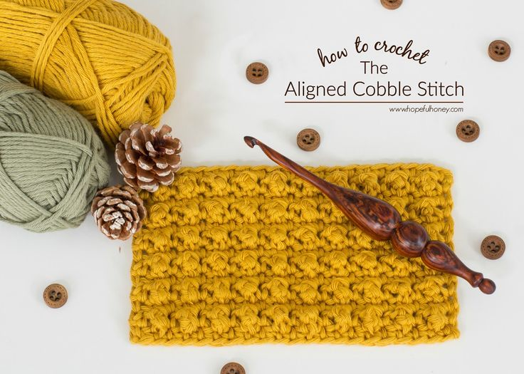 Hopeful Honey | Craft, Crochet, Create: How To: Crochet The Aligned Cobble Stitch - Easy T...