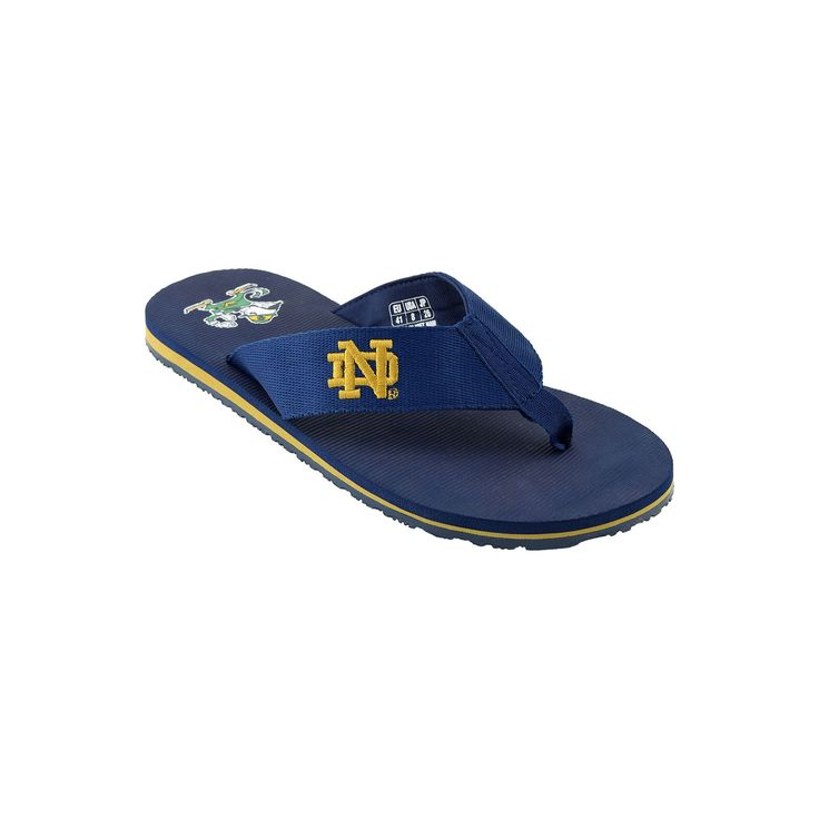 Men's Notre Dame Fighting Irish Flip-Flops, Size: 11, Blue (Navy)