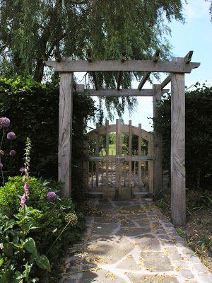 David Keegans Garden Design Blog: Landscape Gardens in Mobberley, Cheshire, By David Keegan Garden Design Bespoke oak gate designed by Davi Keegan