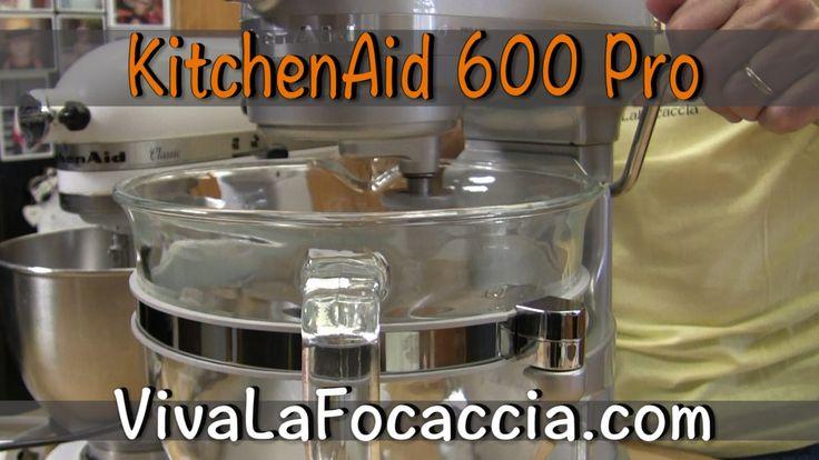 Dopo aver usato la KitchenAid Artisan per 18 anni, oggi ho comperato al KitchenAid 600 Pro. Ecco la prova.