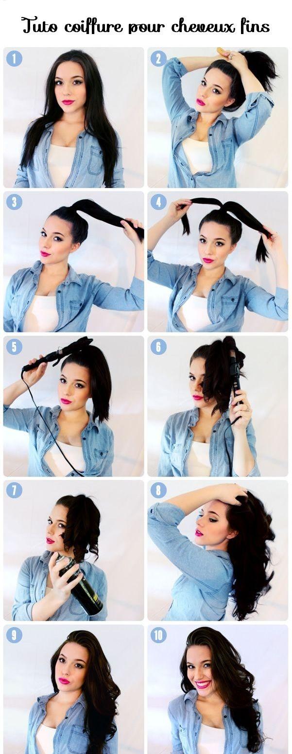 tuto coiffure pour cheveux fins