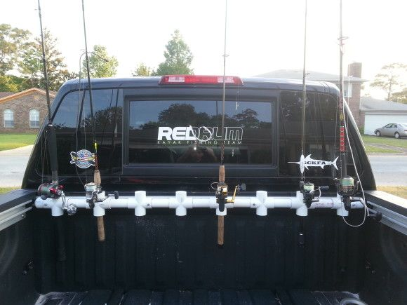 DIY Truck bed rod holder