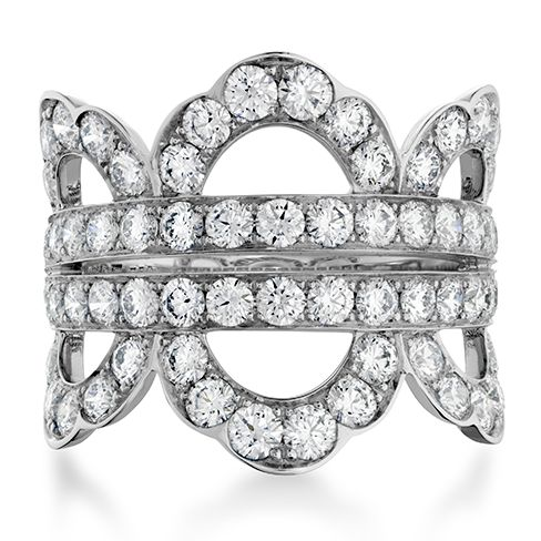 Lorelei Diamond Right Hand Ring (available in 18k White Gold) #diamonds  #LoreleiCollection | heartsonfire.com