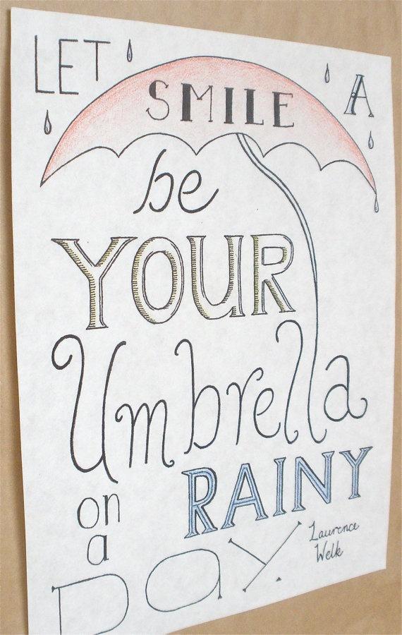 Typography Quote Rain Quote