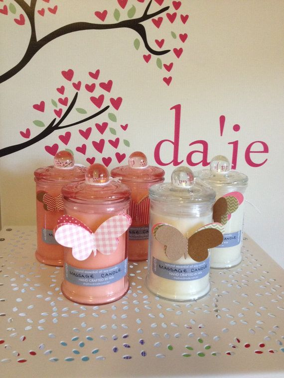 $33 Natural Soy Massage Candle with Sweet Almond Oil by dajehandmade