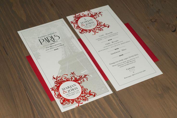Huwelijksuitnodiging - ©liesbetmerens.be #graphicdesign #wedding #invite #invitation #grafischontwerp #uitnodiging #huwelijk #trouw
