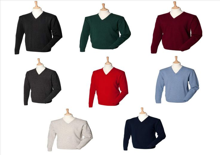 Henbury lana d agnello uomo scollo a v maglione misure s-2xl, stile golf
