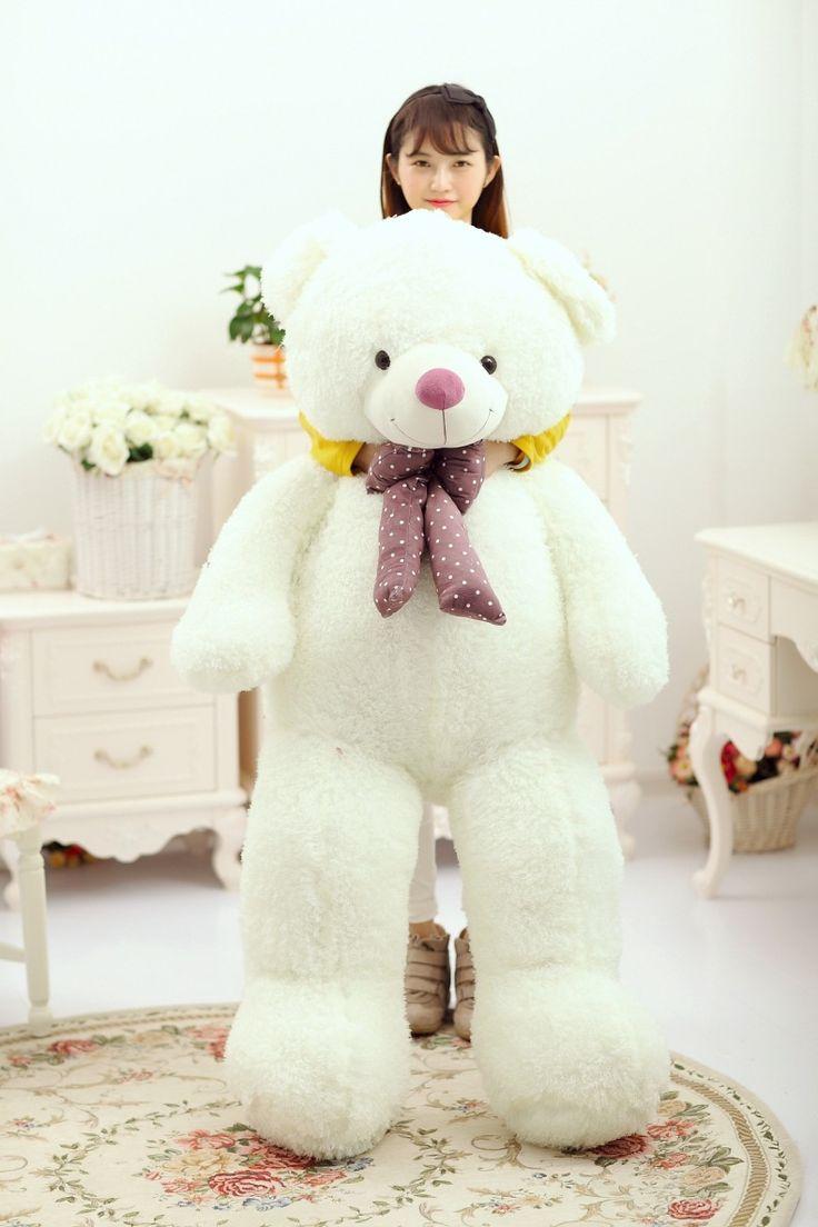 huge 150cm white bear plush toy , bowtie teddy bear doll hugging pillow ,birthday gift, Xmas gift d2317 #Affiliate