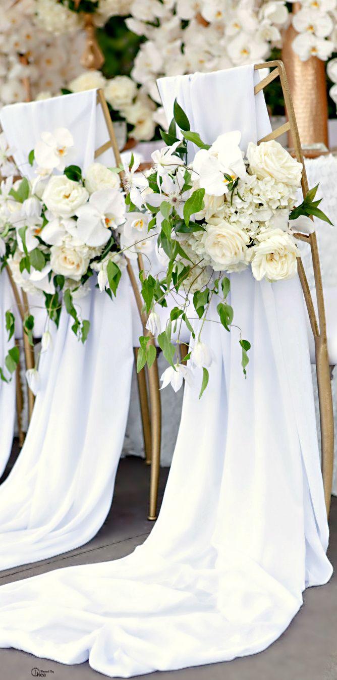 Beautiful Ceremony Chairs \\ @thewildromantic