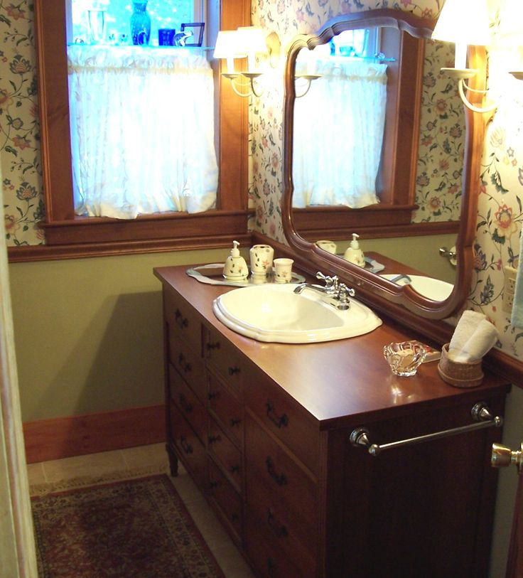 Dresser Into Bathroom Vanity Modern Green House