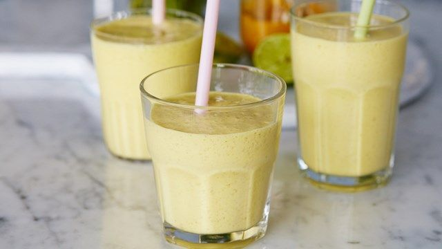 Smoothie tropical aux haricots blancs
