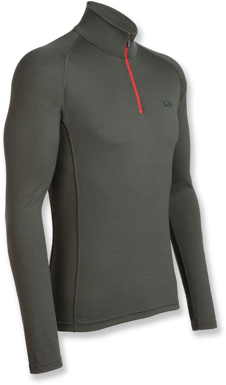 Icebreaker Bodyfit 200 Mondo Underwear Zip T-Neck - Wool - Men's - Free Shipping at REI.com