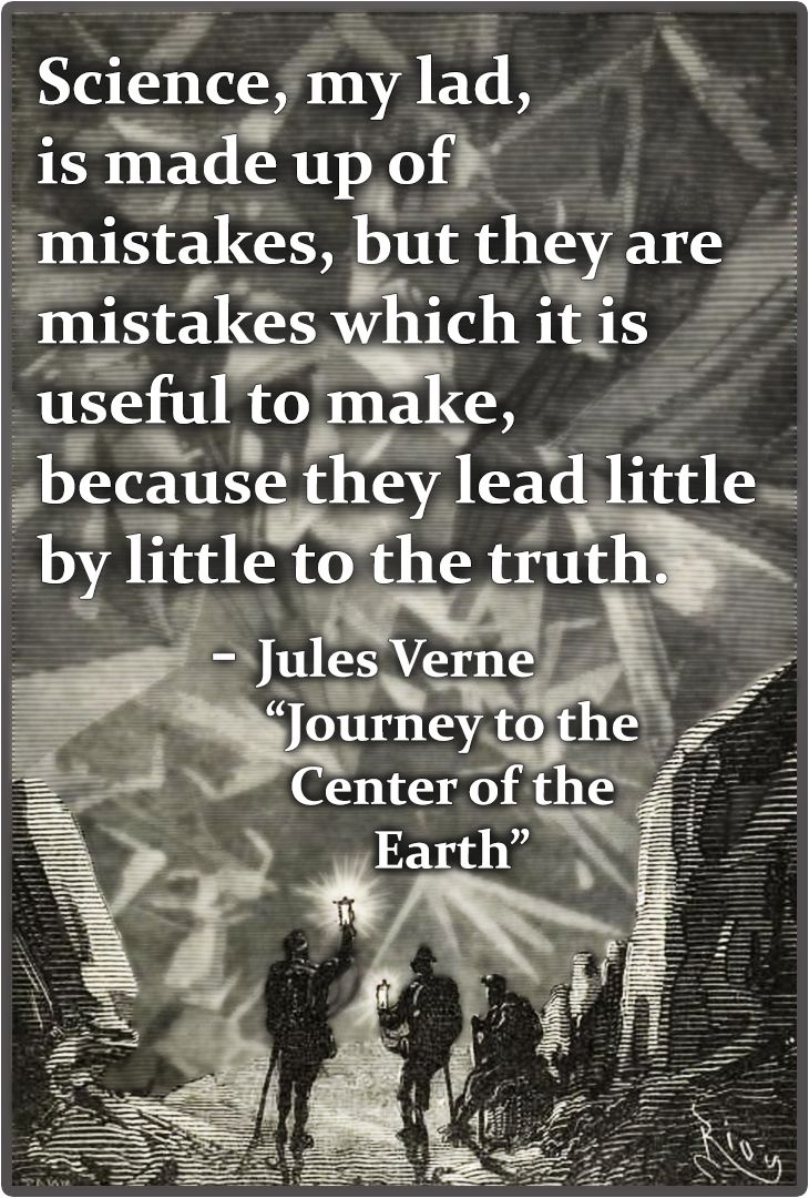 Jules Verne on science and useful mistakes.
