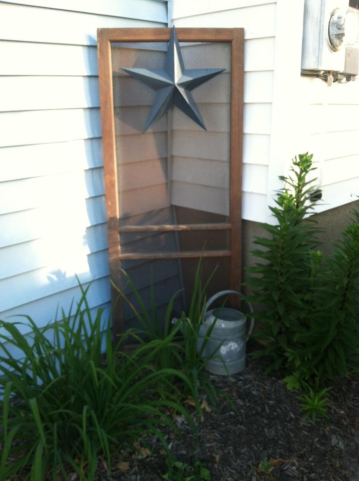 Old Screen Door My Home Sweet Home Pinterest Gardens