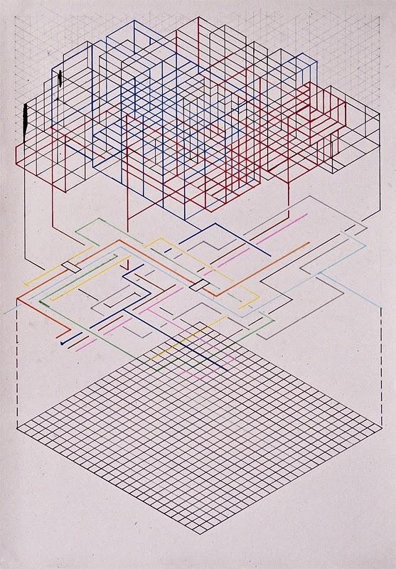 abstract diagram drawings by Rento van Drunen