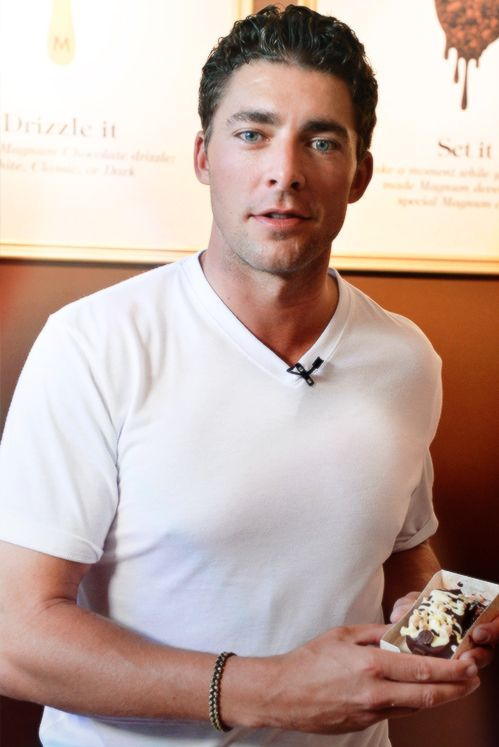 A fully-clothed Joffrey Lupul at the recent grand-opening of some ice cream kind of place downtown or something .... or not -- I don't know. I really wasn't paying attention.