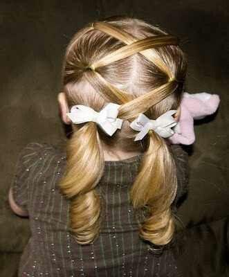 Cute hair due for little girls