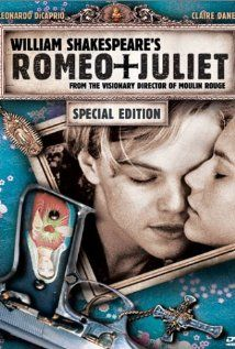 Romeo + Juliet - Baz Luhrmann, ONE OF MY FAVORITE FAVORITE MOVIES! My husband and I saw this in a theater and at first I had my doubts but I knew it was going to be good when several people walked out within the first 5 minutes! starring, a believable Leonardo DeCaprio, the raw talent of Claire Danes, crazy-scary John Leguizamo, fiercely sexy Harold Perrineau, the late, incredibly handsome and talented Pete Postlewaite, the adorable Paul Rudd, and buff Dash Mihok... One of my most FAVORITES!