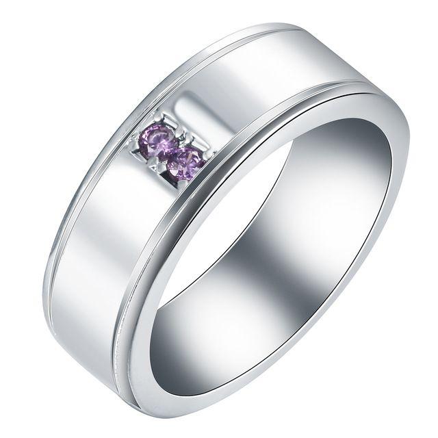 Посеребренные обручальное кольцо ювелирные изделия родием винтаж партия подарок для женщин фиолетовый cz циркон принцесса обручальные КОЛЬЦА