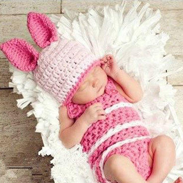 Кролик дети ручной ребенок новорожденный фотографии реквизит животных дизайн вязаная шапка нижнее кашемир детские девушка шапочка Cap