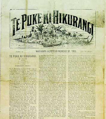 Te Puke Ki Hikurangi  It will be ears and voice for us who remain in ignorance of the enormous tasks of Te Kotahitanga. Te Puke ki Hikurangi December 21, 1897    Maori were quick to take up the use of new technology and there was no better example than the use of a printing press at Papawai. Tamahau Mahupuku started Te Puke ki Hikurangi newspaper at Papawai in 1897. The proceedings of the Maori Parliament were regularly reported in Te Puke.