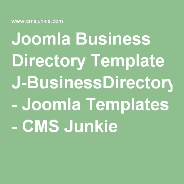 Joomla Business Directory Template J-BusinessDirectoryTemplate - Joomla Templates - CMS Junkie