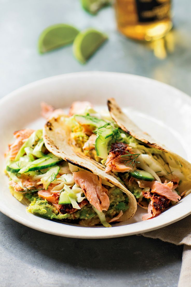 INA GARTEN Roasted Salmon Tacos - TownandCountrymag.com